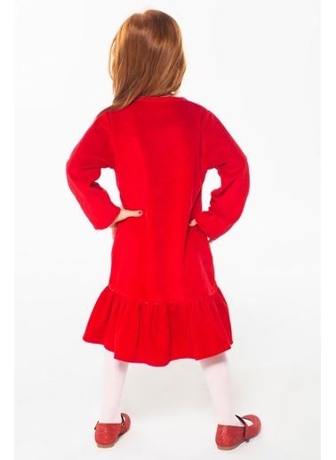 Lupiakids 2 Kalp Kız Çocuk Kadife Elbise Renkli